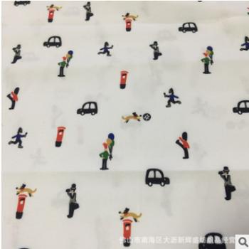 超细旦大牌交通工具数码印花面料 热转移印花布 时装童装衬衫面料