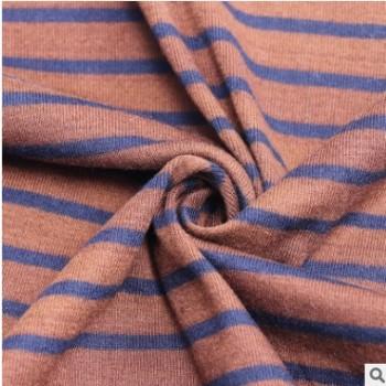 彩迪世家新款 条纹纯棉面料 连衣裙T恤面料布艺桌面 32S棉料