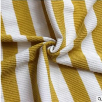 彩迪世家新款 条纹纯棉面料 连衣裙T恤面料布艺桌面 32S棉料新棉