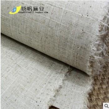 服装面料 深圳厂家直销节麻棉麻亚麻布料DIY桌布口袋布定制批发