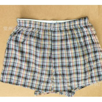 男式梭织短裤 男式大码纯棉格子家居短裤 欢迎来电咨询