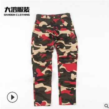 跨境专供欧美长裤薄款 亚马逊爆款工装裤迷彩 迷彩长裤厂家直销