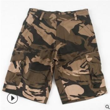 厂家直销 薄款短裤工装裤迷彩 夏季男款多口袋工装裤休闲五分短裤