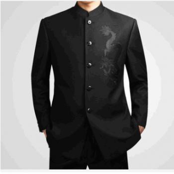 批发品牌男装中华立领男士外套中山装套装时尚都市男装外套 韩版