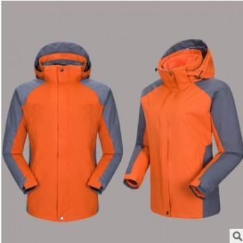 17款户外冲锋衣两件套男女款三合一外套运动户外服登山服LOGO定做