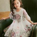 女童韩版中大童表演服外贸货源女童礼服裙宝宝花童裙子礼服