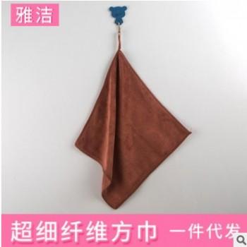 厂家直销超细纤维方巾 超细纤维涤纶复合颜色多选32股方巾批发