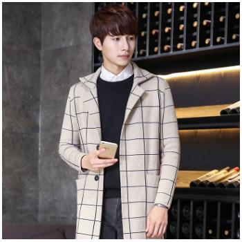 新款韩版印花长袖加开衫外套 男式针织衫男毛衣休闲时尚男装批发