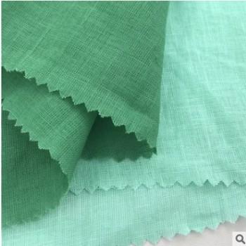 夏季薄亚麻棉面料 流行复古棉麻布料 透气上衣连衣裙的梭织布料