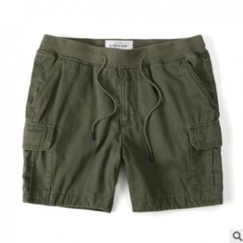 夏季男士宽松直筒工装短裤多口袋休闲裤户外五分裤休闲短裤大码