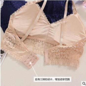 2019新款夏季蕾丝性感抹胸少女可拆卸胸垫吊带裹胸美背大码加肥款