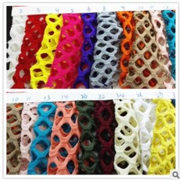 现货供应 低弹菱形大网 服装菱形网布 粗网眼布 春夏流行时装面料