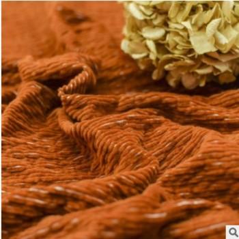 现货灯芯绒洗水纹理条纹面料 秋冬女装外套风衣灯芯绒面料