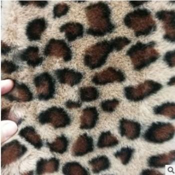 豹纹印花超柔短毛绒 全涤豹纹兔毛绒 豹圈兔毛 服装家纺玩具面料
