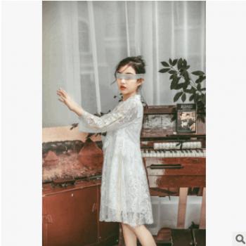 2019年春款新连衣裙女童蕾丝裙网纱裙SL003