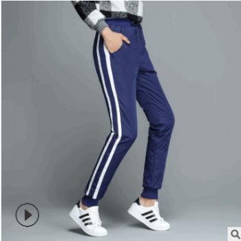 厂家直供女士高腰羽绒裤学生运动休闲裤韩版加厚防寒棉裤一件代发