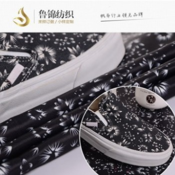 虎门厂家批发供应全涤108*58纱卡漂白色印花斜纹布涤纶纱卡