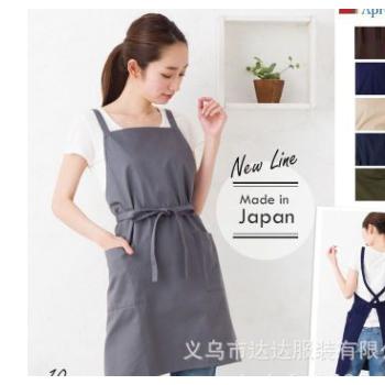 日本韩国围裙生产厂家定做高档外贸现货批发时尚简约韩版新款日式