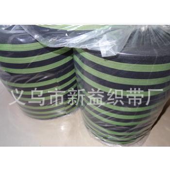 厂家直销 10CM宽钩编松紧带 三条绿护膝松紧带 宽幅韩国松紧带