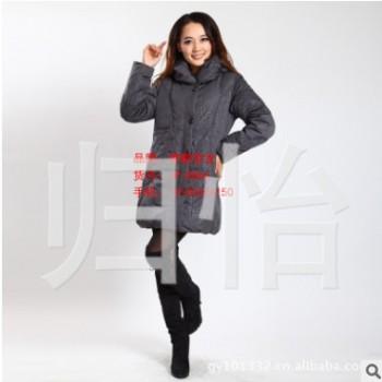 锦鹏雪龙8866 中老年女式新款羽绒服 老太时尚羽绒棉袄 加厚中长