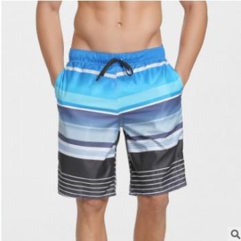 潮夏季沙滩裤男士休闲五分花短裤男家居服速干加肥加大码裤衩