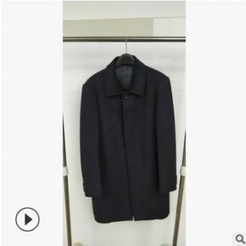 反季清仓【开耀】加工定制手缝冬季毛呢大衣男 手工男士冬季外套