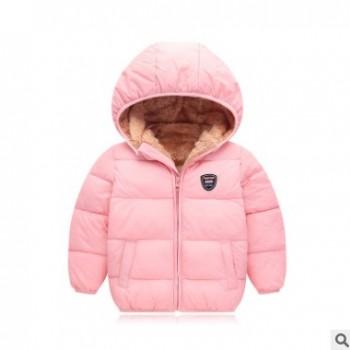 反季棉衣儿童羊羔绒棉服男童加厚女童加绒棉袄婴幼儿外套宝宝冬装