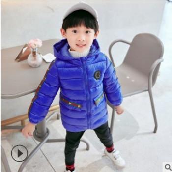 新品儿童羽绒棉服中长款连帽棉衣秋冬季新款男女童童装棉袄外套