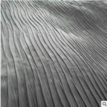2015夏季新款时装褶皱面料双弯刀波浪型皱竖条底部带粘衬加工