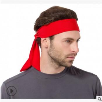 爆款户外运动止汗头巾网球篮球健身海盗头带潮流纯色男女跑步头巾