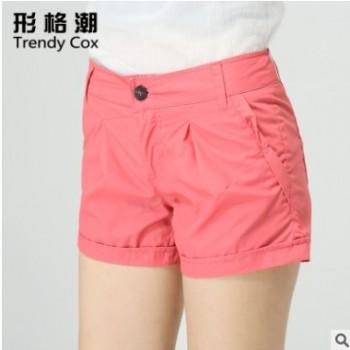 2016夏季韩版女装全棉女士小短裤女 修身吸汗短裤女式休闲裤批发