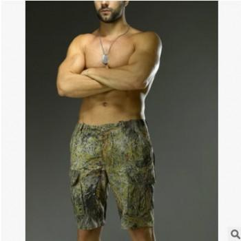 酋长仿生迷彩狩猎型短裤 自由人五分短裤 户外战术速干裤一件代发