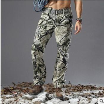 酋长仿生迷彩捕食者狩猎裤 户外战术裤子 野外生存狩猎裤工装裤