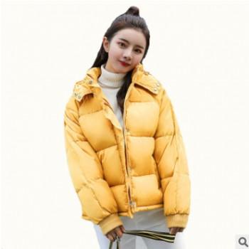 棉衣生产厂家短款女式羽绒服加工 颜色多选宽松女羽绒服