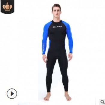跨境莱卡防晒服男 SLINX薄款速干泳衣连体防水母冲浪潜水服现货