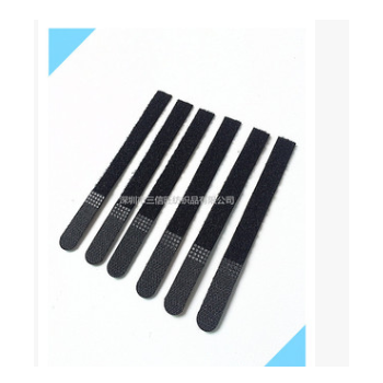 现货供应尼龙魔术贴数据线扎带 P型 黑色反扣魔术贴扎带