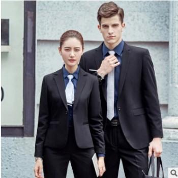 2019春款中版职业装女套装修身西装外套男女同款行政律师商务正装