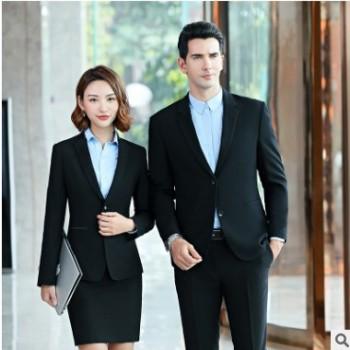 男女同款高档商务西装秋冬季女修身职业装西服套装酒店经理工作服