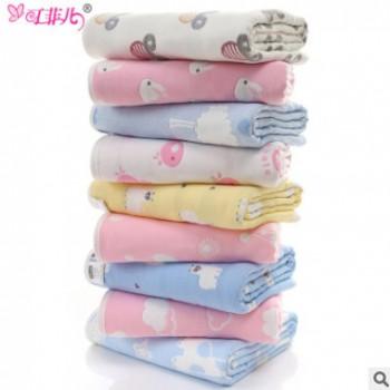 六层纱布毛巾被 儿童纯棉大毛巾被盖毯120*150空调被无荧光A类