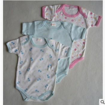 新生儿贴身内衣 婴幼儿包屁衣 短袖三角爬OEM代加工 抵挡三扣爬服