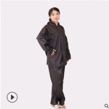 厂家批发劳保雨衣 工地户外雨衣 夜光单层雨衣套装