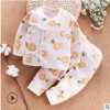 现货纯棉新生儿衣服婴儿内衣套装3个月男女宝宝和尚服秋衣两用裆