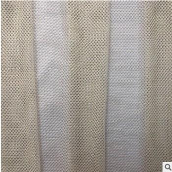 厂家直销 锦纶金丝六角网玫红 珠光透明网 婚纱网