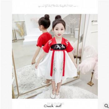 女童连衣裙套装夏2019新款韩版儿童中大童中长款裙子两件套超洋气