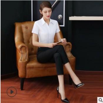 休闲九分女西裤 2019春季黑色商务修身韩版职业西装裤女 厂家直销