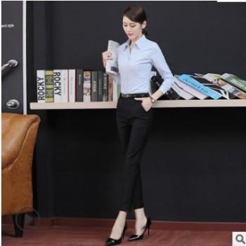 2019春季新款黑色裤子 韩版休闲小脚修身显瘦职业西装裤 可定制