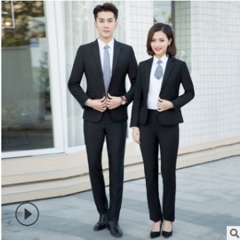 2019新款男女组合西装 简约时尚休闲大方修身型西装 厂家批发