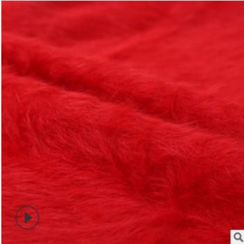 厂家直销全涤针织新款绒布 仿貂绒面料 沙发靠垫抱枕床上用品布料