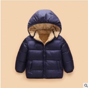 童装2018冬季新款棉服儿童加厚羊羔绒棉外套男女宝宝棉袄一件代发