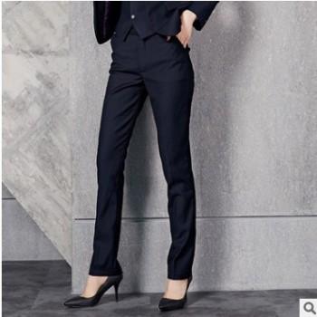 2018新款职业春装西裤女 气质修身潮灰色男女同款西裤工作裤现货